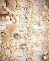 seashell escort card display