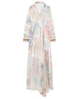 Chloe Printed Silk-Chiffon Gown