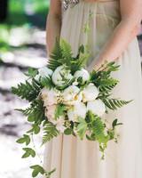 White Wedding Bouquet with Ferns