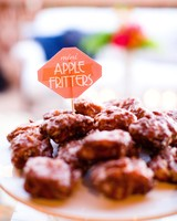 wedding food mini apple fritters