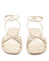 Prada Knot-Front Metallic Leather Sandals