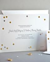 dotted wedding invitation