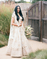 Indian designer made traditional Indian wedding bride attire