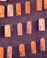Stamped Tag Escort Cards