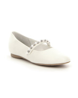 flower girl shoes white ballet