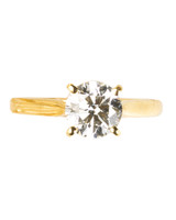 Yellow Gold Classic Cartier Engagement Ring