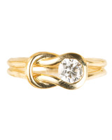 Love Knot Yellow Gold Engagement Ring