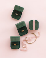 Engraved Signet Rings in Green Ring Boxes
