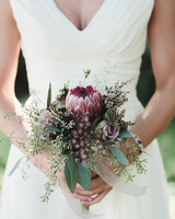 small bouquet with protea