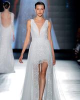 rosa clara dress spring 2019 v-neck short dress with skirt overlay