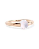 18-Karat Rose Gold Moonstone Ring