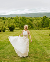 rose chris wedding bride in field