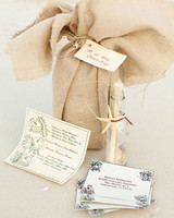 Oceanic Invitations with Bottle and Burlap