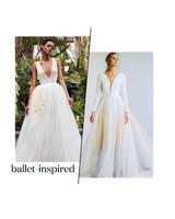 spring 2020 bridal fashion week ballet inspired wedding dress trend