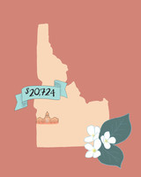 state wedding costs illustration idaho