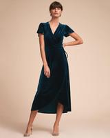 blue felt dress