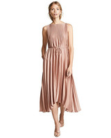 vince champagne pleated dress