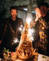 thomas jared wedding cake croquembouche