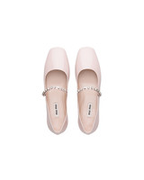 Patent Leather Mary Jane Ballerina Shoes, Miu Miu Wedding Flats