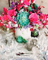 bold succulent centerpieces