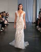 berta fall 2019 sheath sheer v-neck wedding dress