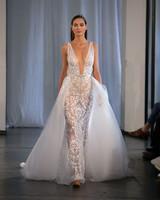 berta fall 2019 sheer v-neck overskirt wedding dress