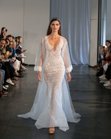 berta fall 2019 sheer mermaid cape wedding dress