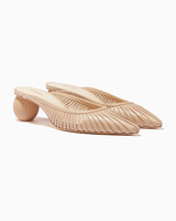 leather mules bridesmaid shoes