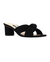 knot slip-on sandals bridesmaid shoes