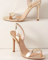 metallic heels bridesmaid shoes