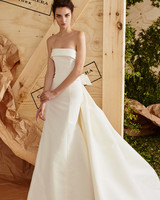 Classic Silk Strapless Wedding Dress