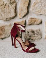 red suede Stuart Weitzman four inch stilettos