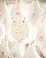 handkerchief favor display