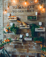farmers market inspired food wall