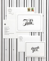 black-and-white wedding invitation