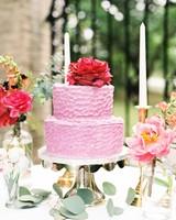 pink textured cake