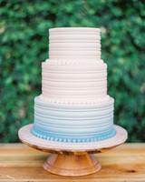 white blue ombre wedding cake