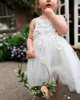 hoop bouquets lucky malone flowergirl