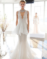 Marchesa Peplum Fit-and-Flare Gown