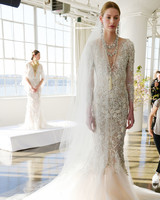 Marchesa All-Over Embellished Fit-and-Flare Gown