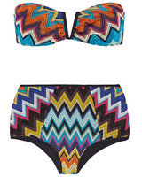 Colorful Zig-Zag Crochet Bikini