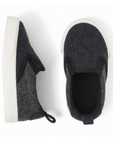 ring bearer shoes charcoal slip on sneakers