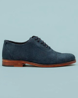 ring bearer shoes blue suede classic line shoes