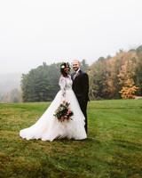 rivka aaron wedding couple bride groom outdoors