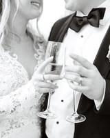 stephanie joe wedding wine toast couple