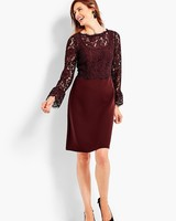 Red Lace Talbots Dress for MOB