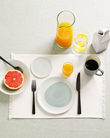 breakfast place setting