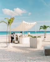 wedding bar on beach