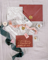 fall invites red-brown suite