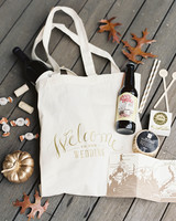 Fall wedding welcome bag
